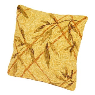 """South Beach Indoor/Outdoor Ivory Leaves 16"""" Pillow"""