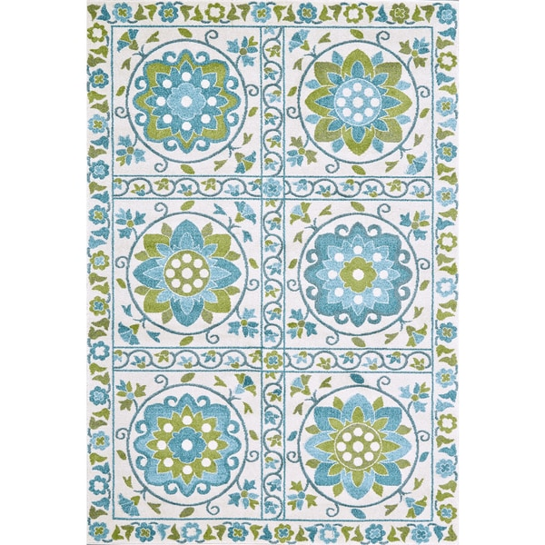 Feizy Power Loomed Polypropylene Gara Rug in Marine 5' x 8'