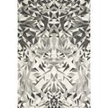 Mida Steel/ White Abstract Area Rug (5' x 8')