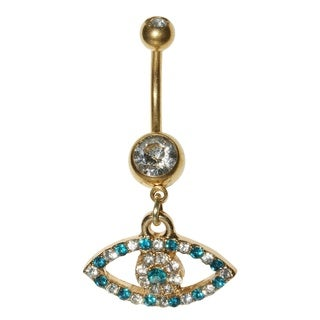 Supreme Jewelry Gold Evil Eye Belly Ring