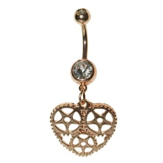 Supreme Jewelry Gold Heart Belly Ring