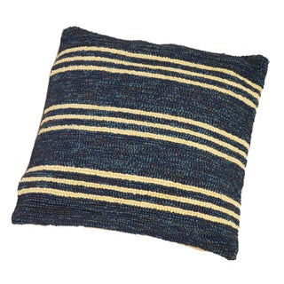 South Beach Blue Striped Indoor/ Outdoor Pillow