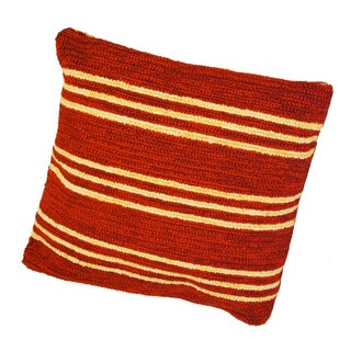 South Beach Red Striped Indoor/ Outdoor Pillow