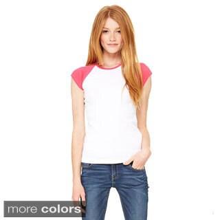 Bella Women's Baby Rib Cap Sleeve T-shirt