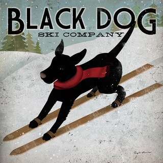 Gallery Wrapped Canvas Black Dog Ski Co. by Ryan Fowler