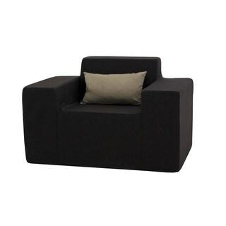 Softblock Black Outdoor Foam Arm Chair