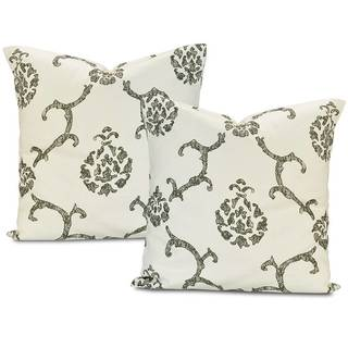 Impressions Grey Printed Cotton Cushion Cover (Set of 2)