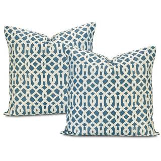 Nairobi Denim Printed Cotton Cushion Cover (Set of 2)