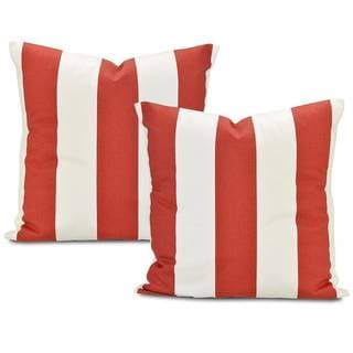 Cabana Spice Stripe Cotton Pillow Cover (Set of 2)