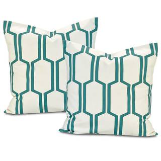 Tide Sands Square Cotton Pillow Cover (Set of 2)