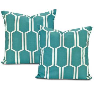 Tide Pools Printed Cotton Cushion Cover (Set of 2)