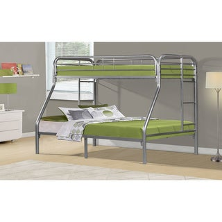 Silver Metal Twin/ Full Bunk Bed