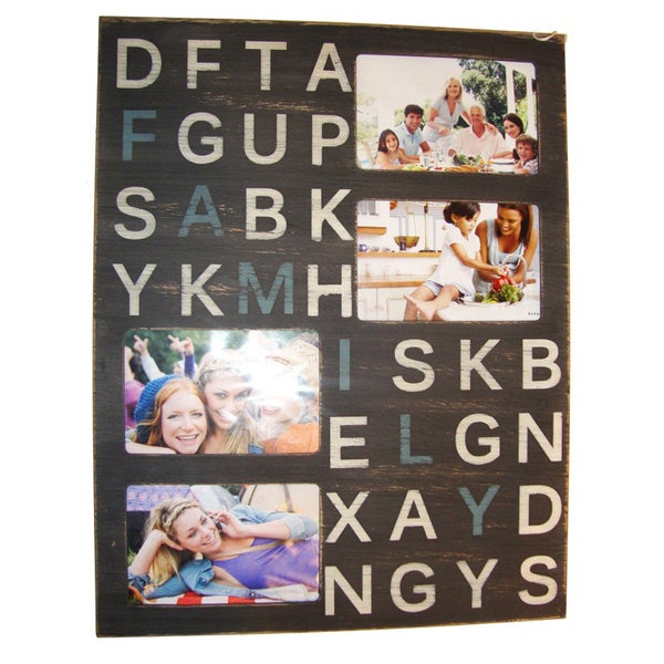Melannco 4-opening Picture Frame Wall Plaque