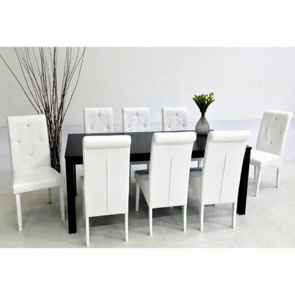 Warehouse of Tiffany Dita White 9-piece Dining Set