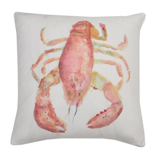 20x20 Stacey Watercolor Feather Fill Lobster Pillow