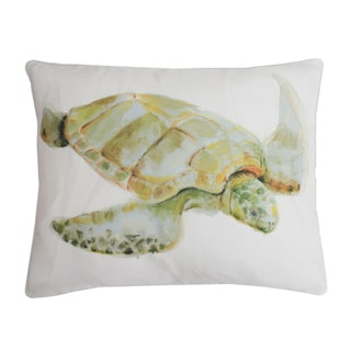 Brenda Watercolor Turtle 14X18-inch Feather Fill Throw Pillow