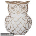 Marvin Owl Shaped Sequined Throw Pillow