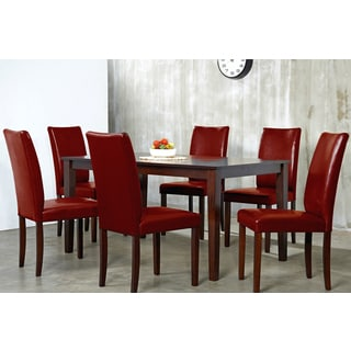 Warehouse of Tiffany Shino Crimson 7-piece Dining Furniture Set