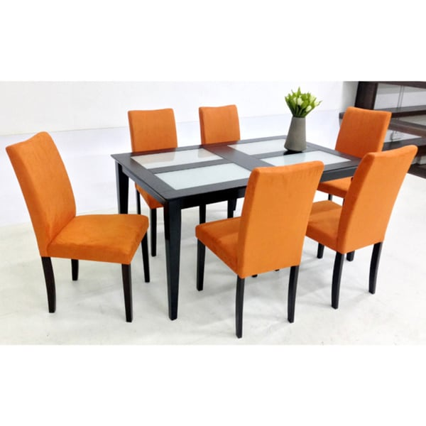 Shino Glass Table 7 Piece Dining Set Room Chairs Piece Home Furniture