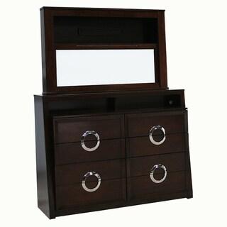 Presley Dark Birch TV Dresser