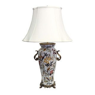 Savannah White Floral Table Lamp