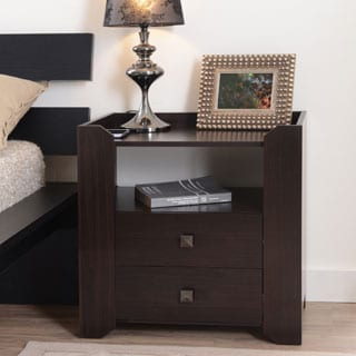 Furniture of America Langerz Espresso 2-drawer Nightstand