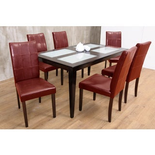 Warehouse of Tiffany Red Bass 7-piece Dining Set