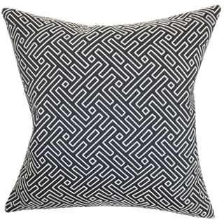 Ocussi Geometric Navy Down Filled Throw Pillow