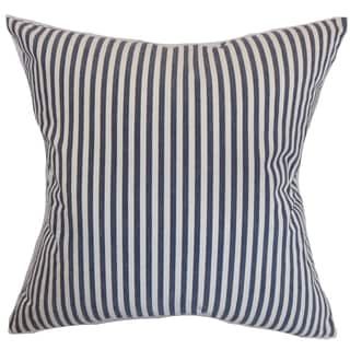 Neptune Stripes Marine Down Filled Throw Pillow