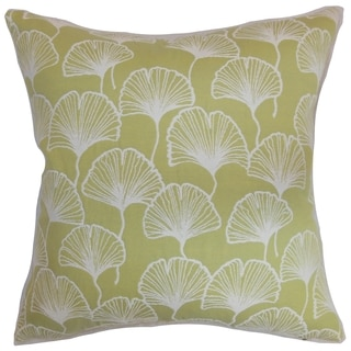 Laverne Floral Lime Down Filled Throw Pillow