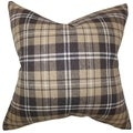 Baxley Plaid Brown Down Filled Throw Pillow