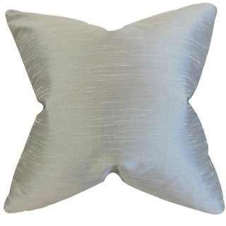 Acker Solid Silver Down Filled Throw Pillow