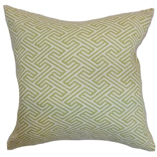 Qalanah Geometric Leaf Down Filled Throw Pillow