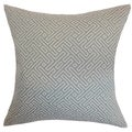 Qalanah Geometric Silver Down Filled Throw Pillow
