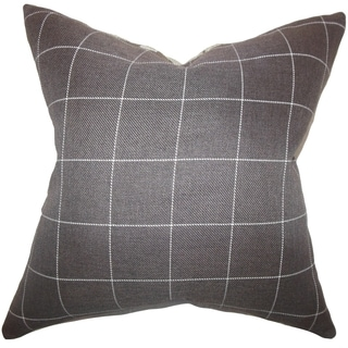 Ivo Plaid Brown Down Filled Throw Pillow