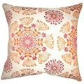 Jamesie Floral Flame Down Filled Throw Pillow