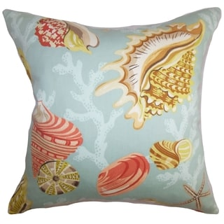Tait Coastal Aqua Yellow Down Filled Throw Pillow