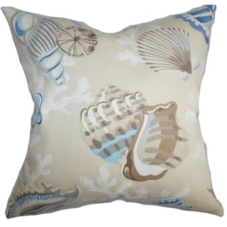 Tait Coastal Blue Natural Down Filled Throw Pillow