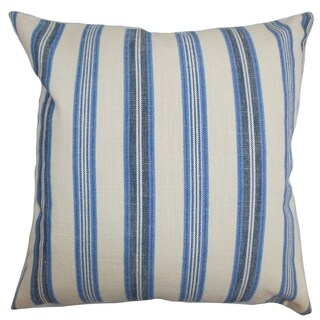Omer Stripe Blue Down Filled Throw Pillow