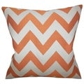 Diahann Chevron Orange Down Filled Throw Pillow