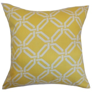 Ulei Geometric Lemon Ice Down Filled Throw Pillow