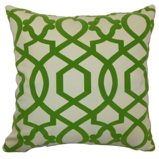 Maeret Moorish Tile Keylime Down Filled Throw Pillow