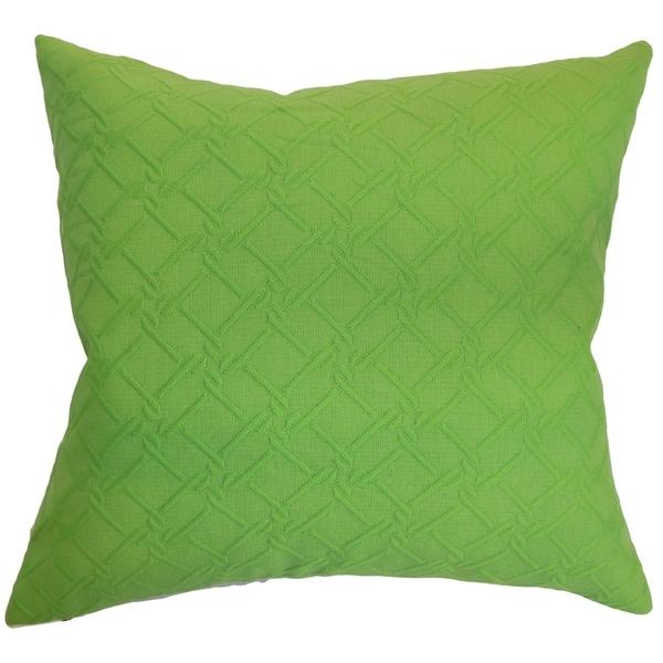 Rafai Plain Green Down Filled Throw Pillow