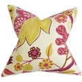 Prys Floral Pink Down Filled Throw Pillow