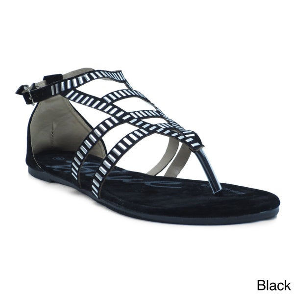 Blue Women's 'Gyp' Strappy Flat Sandals