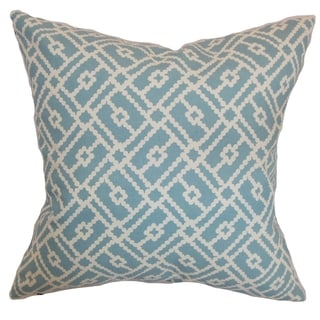 Majkin Turquoise Geometric Down Filled Throw Pillow