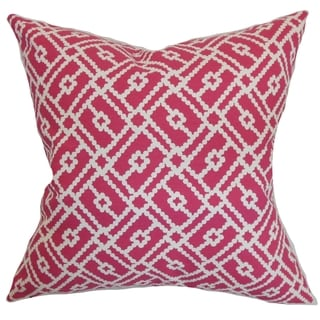 Majkin Azalea Geometric Down Filled Throw Pillow