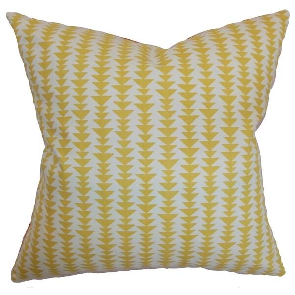 Jiri Banana Geometric Down Filled Throw Pillow