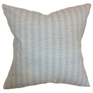 Jiri Sky Blue Geometric Down Filled Throw Pillow