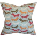 Ione Animal Print Carnival Feather and Down Filled Throw Pillow